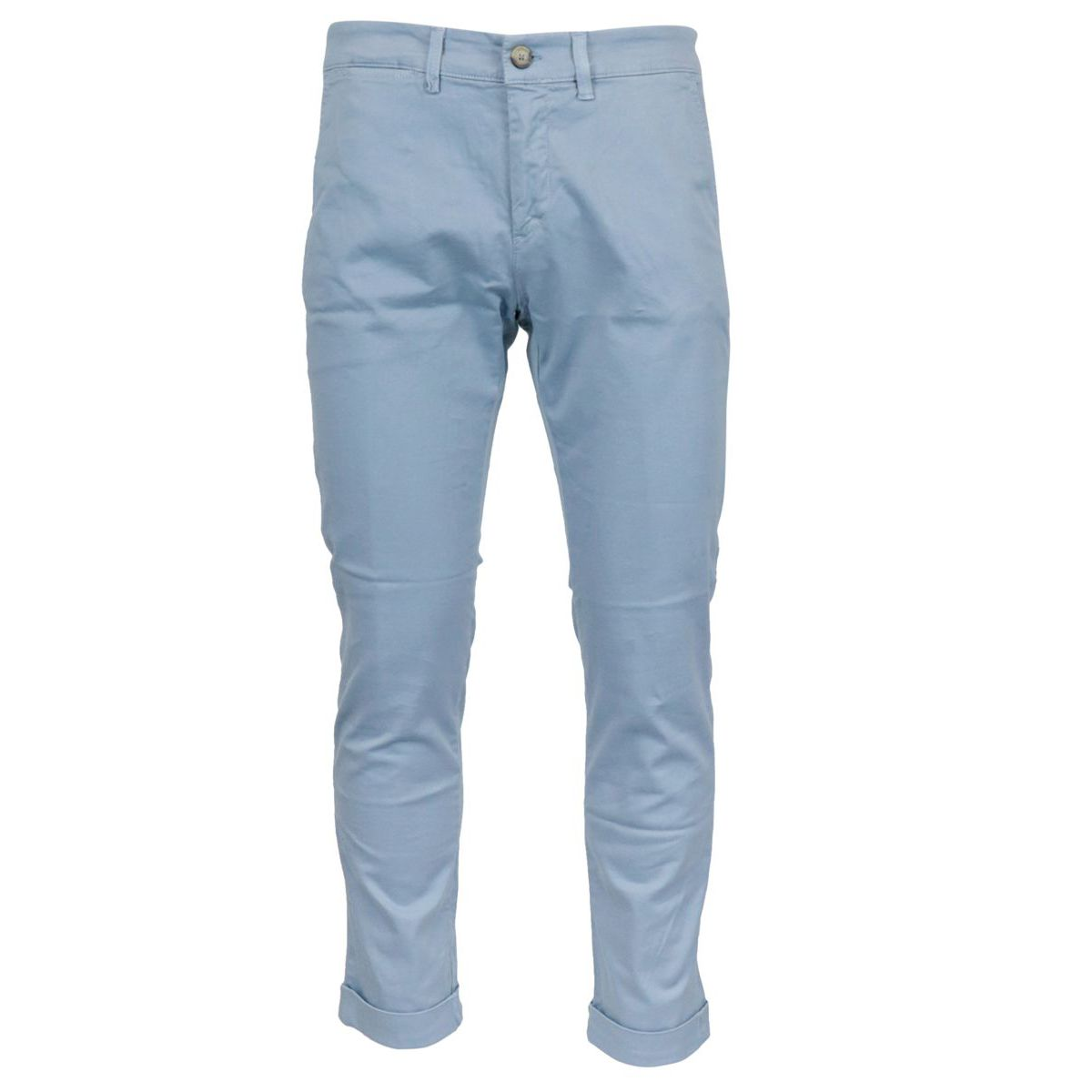 Chino trousers in stretch cotton tricotine Light blue Jeckerson