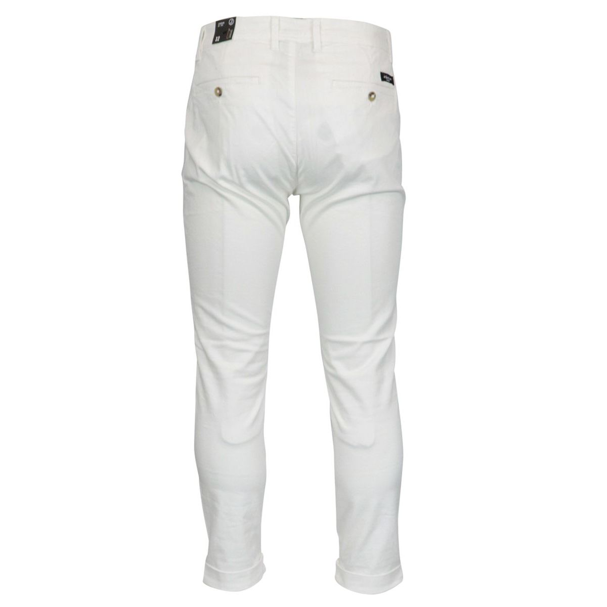 Chino trousers in stretch cotton tricotine Optical white Jeckerson