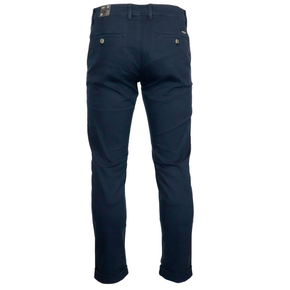 Chino trousers in stretch cotton tricotine Blue Jeckerson