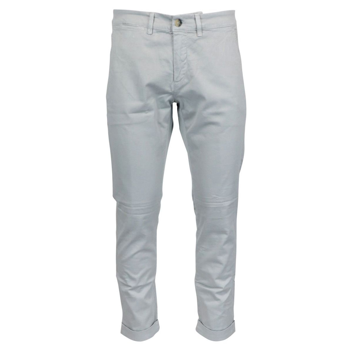 Chino trousers in stretch cotton tricotine Grey Jeckerson