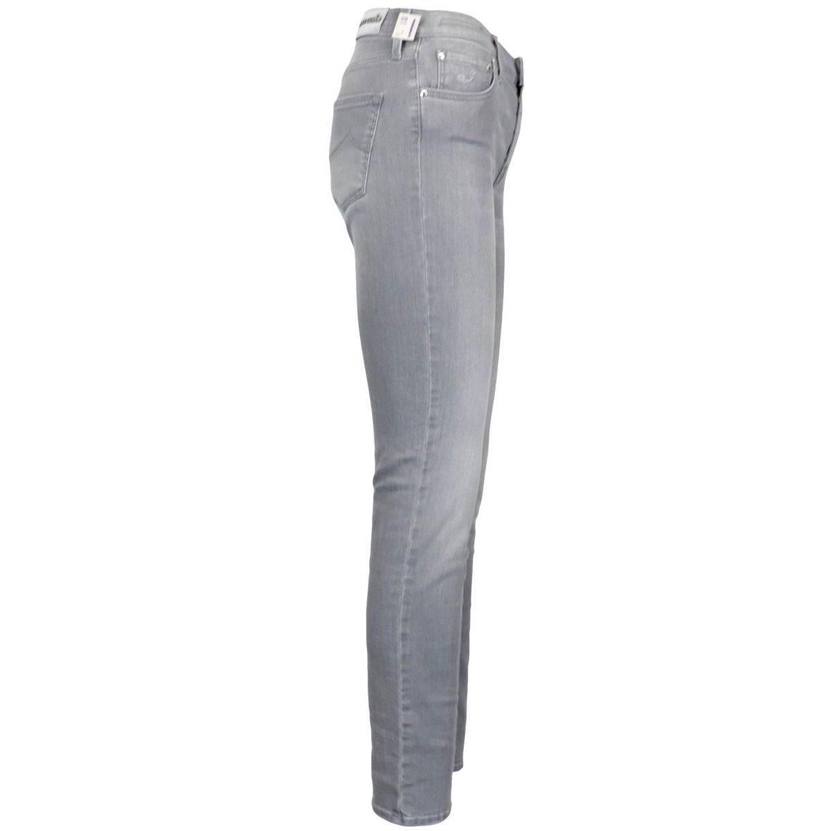 Kimberly slim jeans in used-effect cotton denim Grey Jacob Cohen