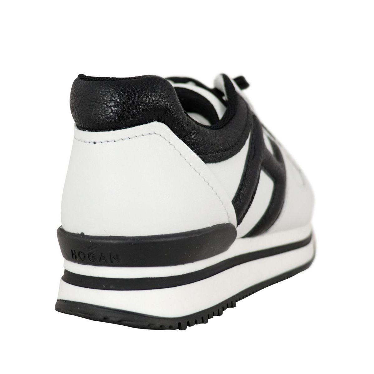 J222 two-tone leather sneakers White black Hogan