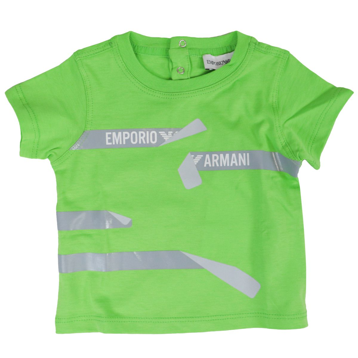 Set of printed cotton t-shirts Green black white Emporio Armani