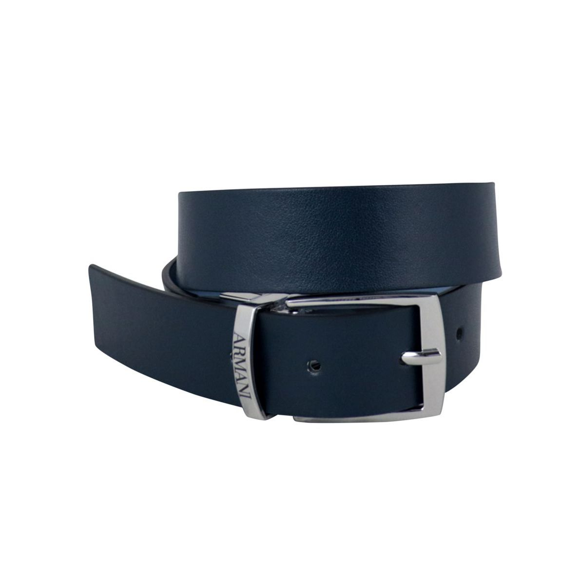 Classic reversible leather belt Navy blue Emporio Armani