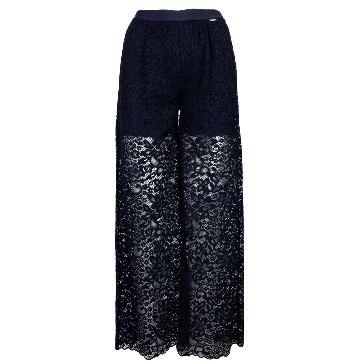 Lace trousers with elastic waistband Night blue Liu Jo