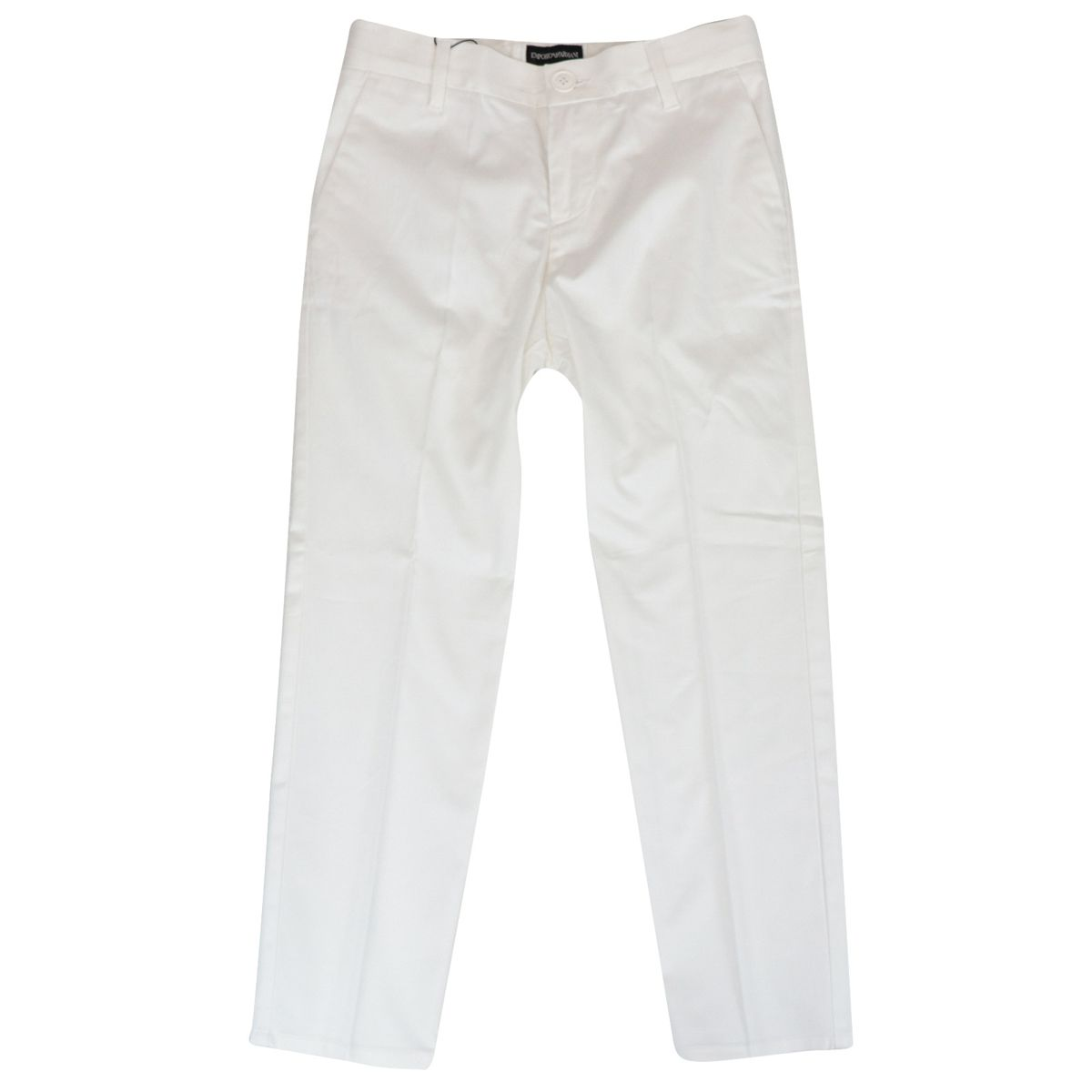 Stretch cotton trousers with america pockets Optical white Emporio Armani