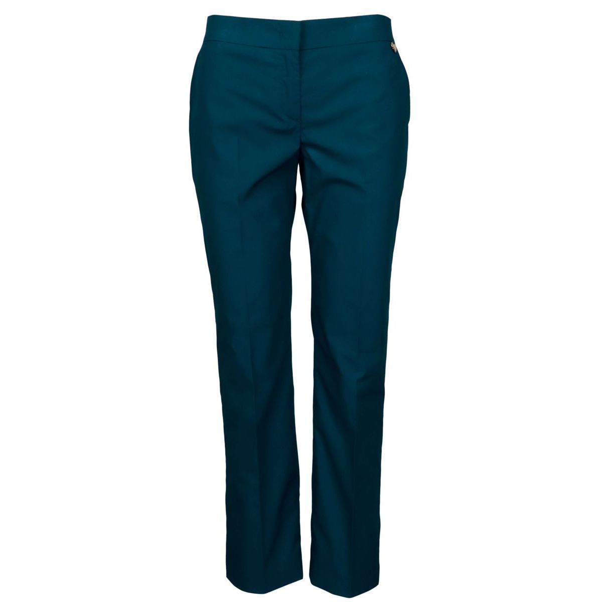 Slim-fit chinos in cotton at the calf Teal Twin-Set