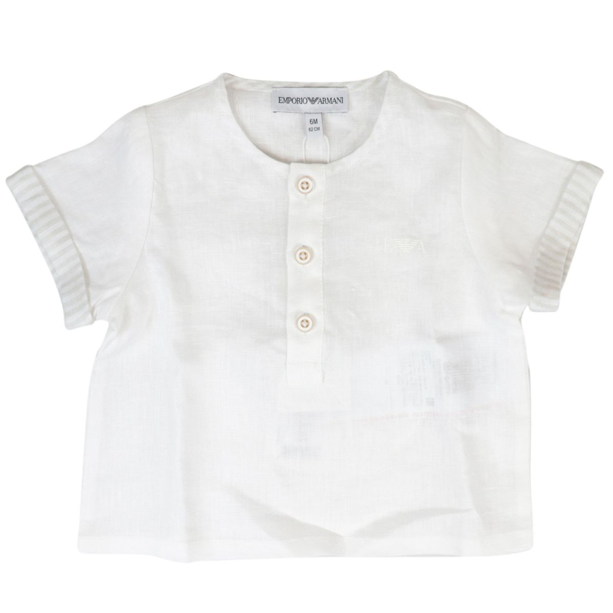 Complete t-shirt + cotton shorts Optical white Emporio Armani