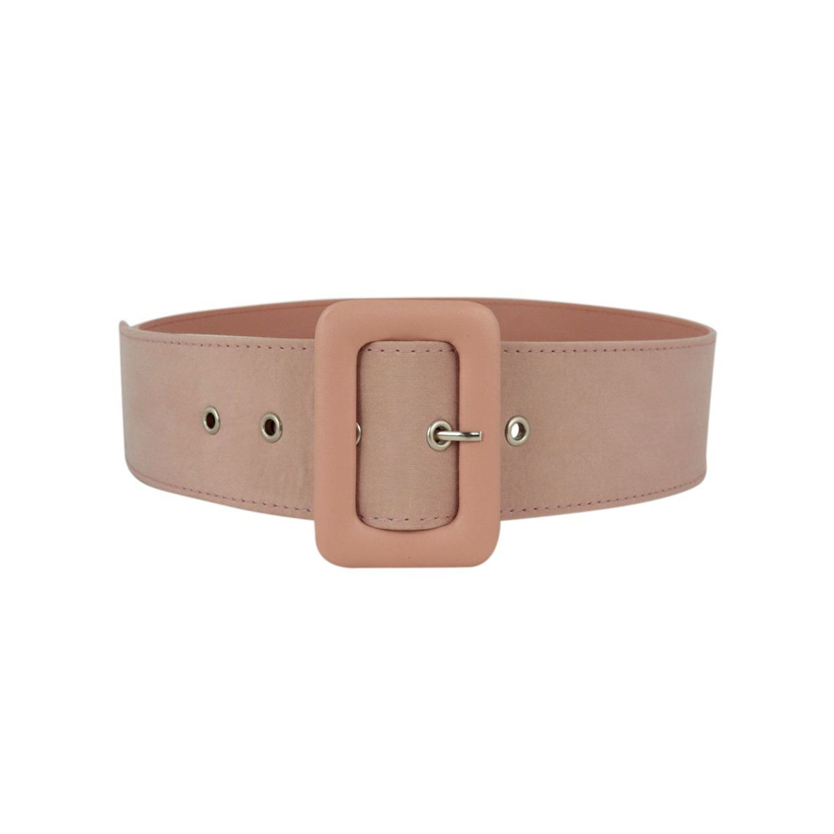 Belt covered in fabric with large buckle Antique pink Maliparmi