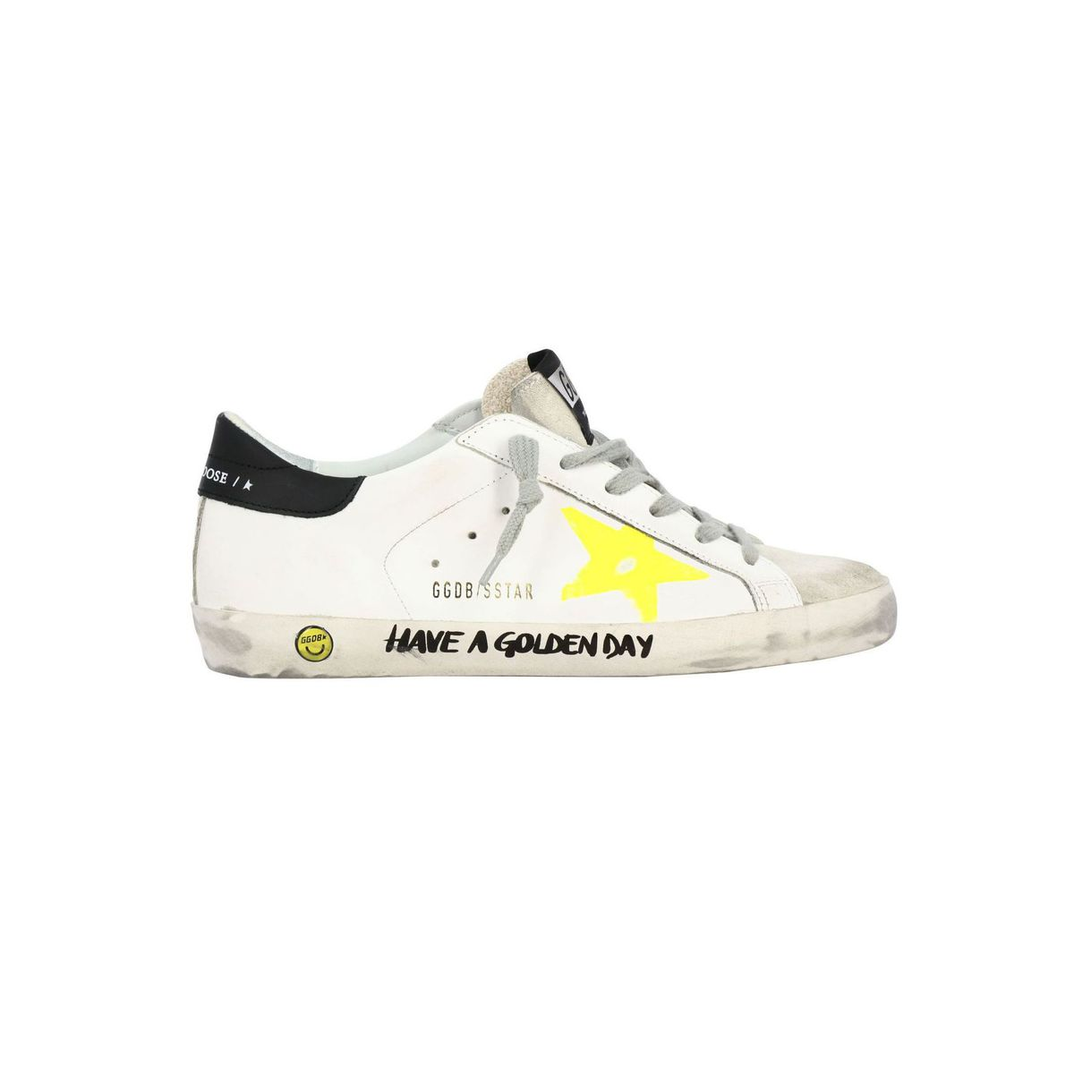 Superstar sneakers in leather and suede with prints White GOLDEN GOOSE