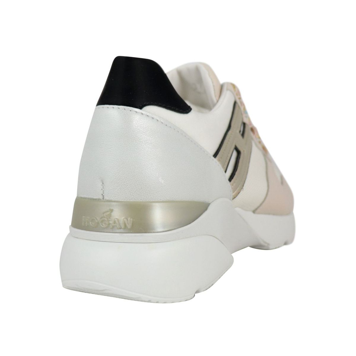 Active One sneakers in leather and micro mesh White / beige Hogan