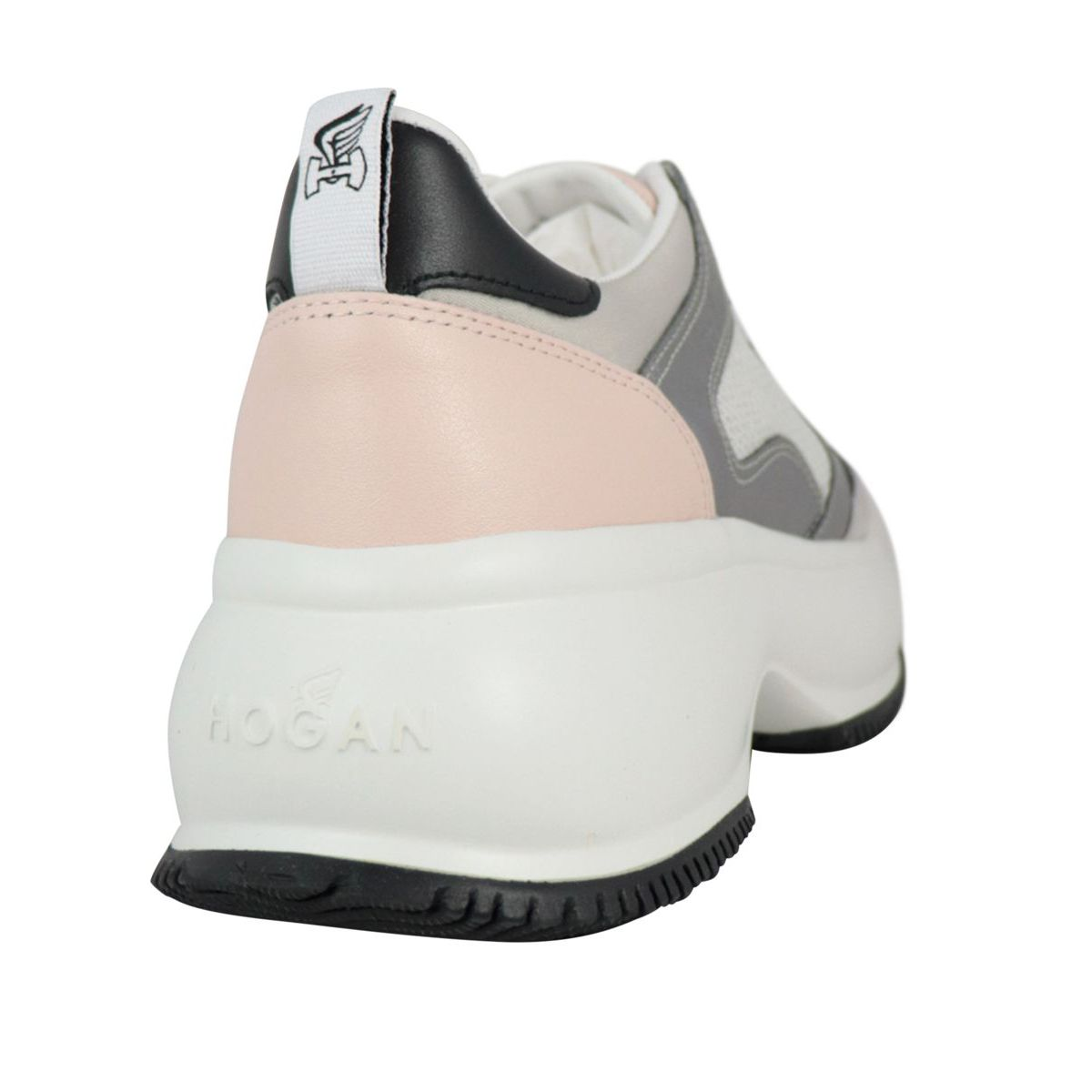 Maxi Active sneakers in leather and suede White / silver Hogan