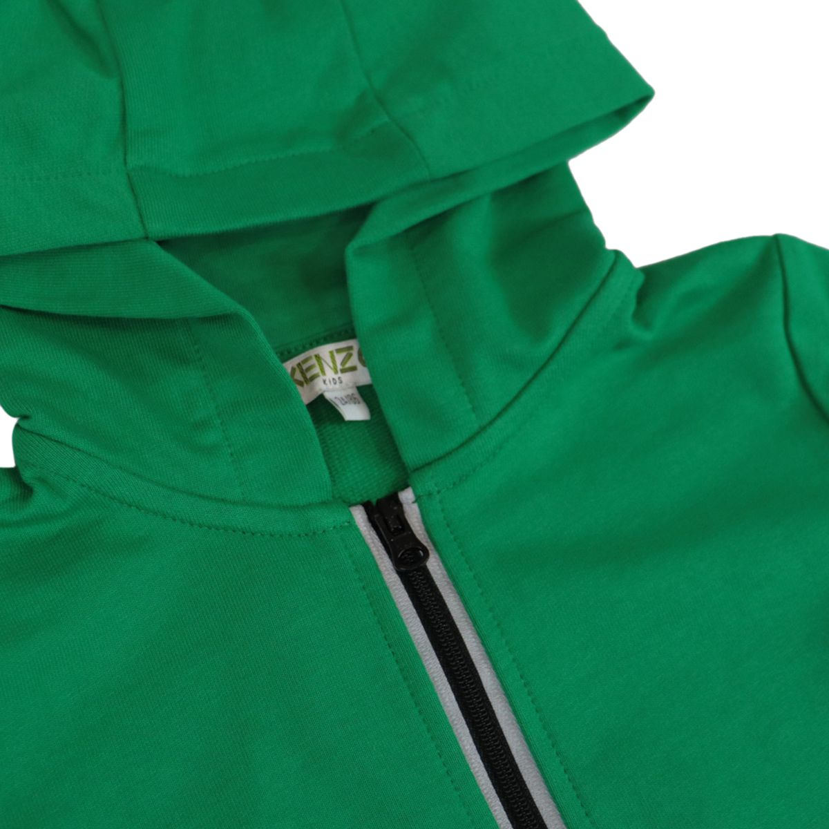 Cotton hoodie with logo on the sleeves Green Kenzo