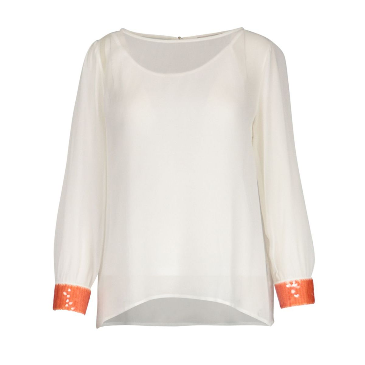 Viscose voile shirt with sequin detail White Patrizia Pepe