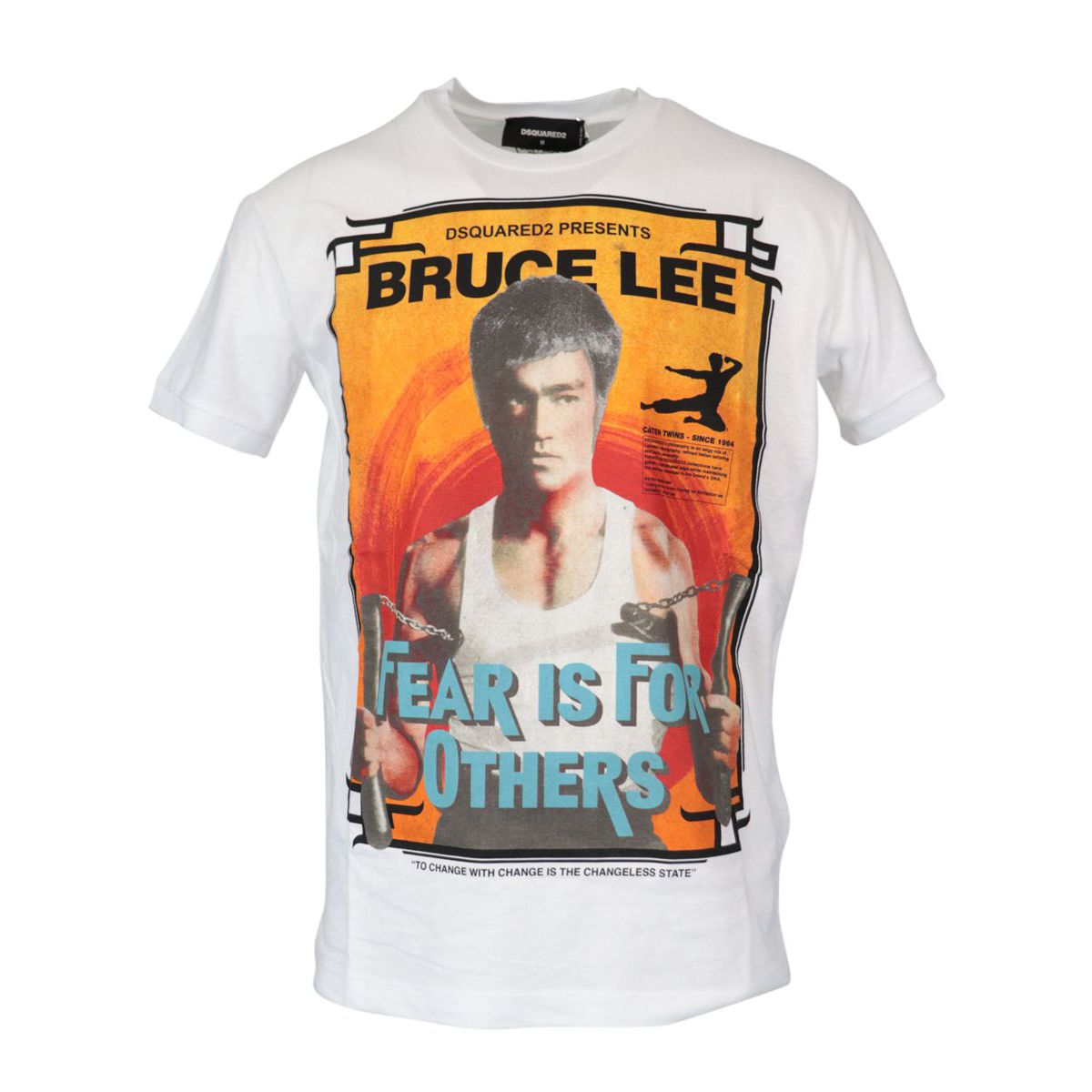 Cotton T-shirt with Bruce Lee print White Dsquared2