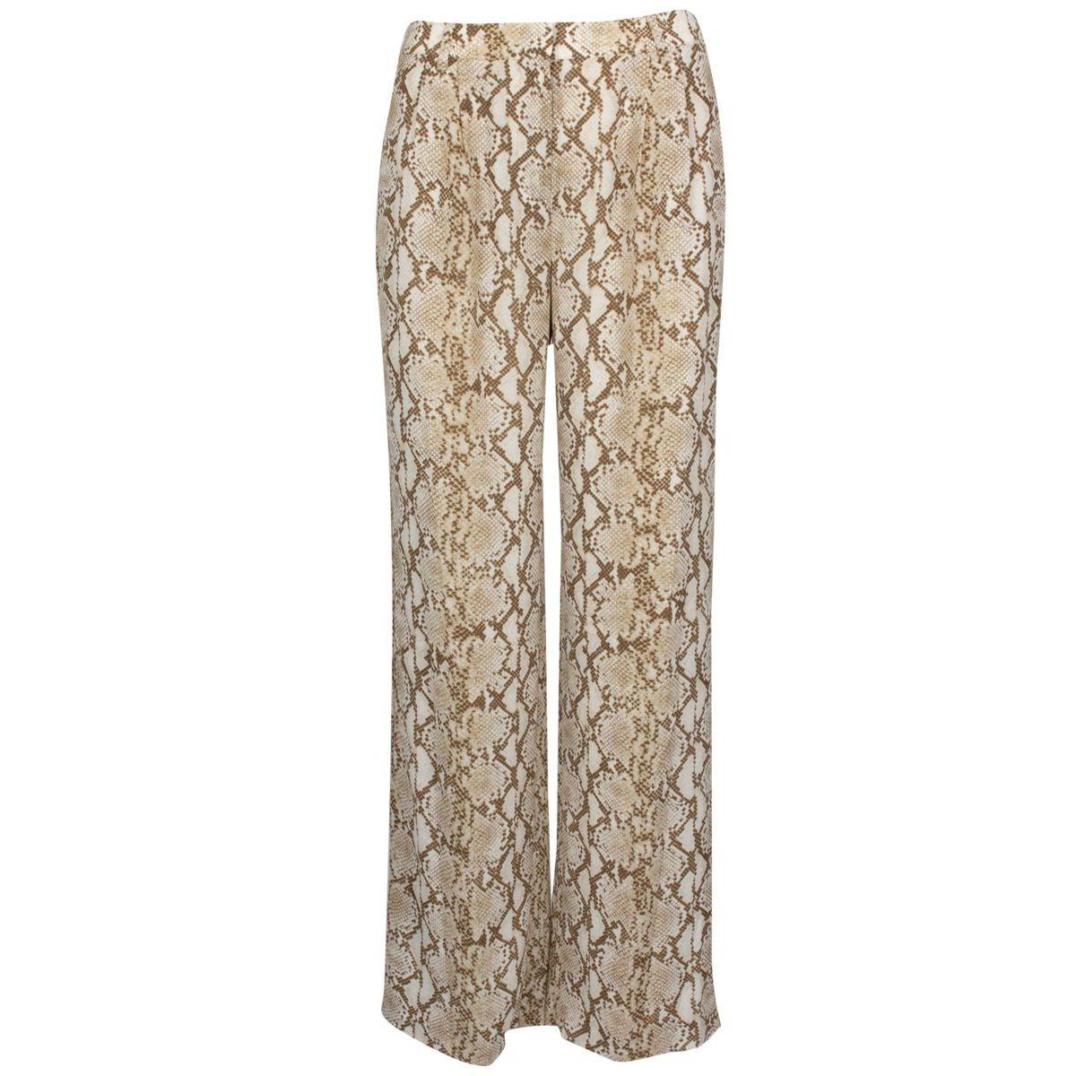 Wide viscose trousers with python print Khaki Michael Kors