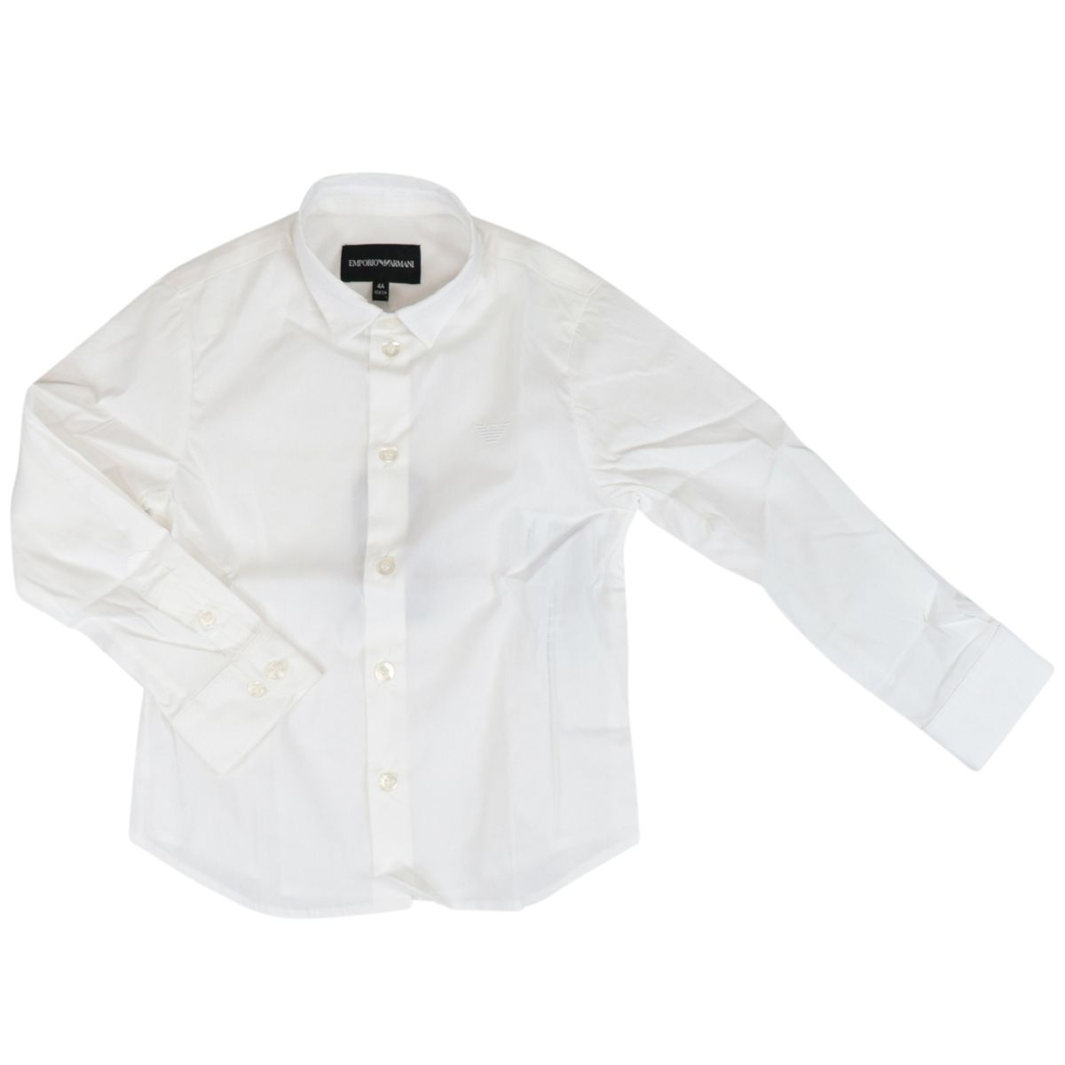 Classic long-sleeved cotton shirt Optical white Emporio Armani