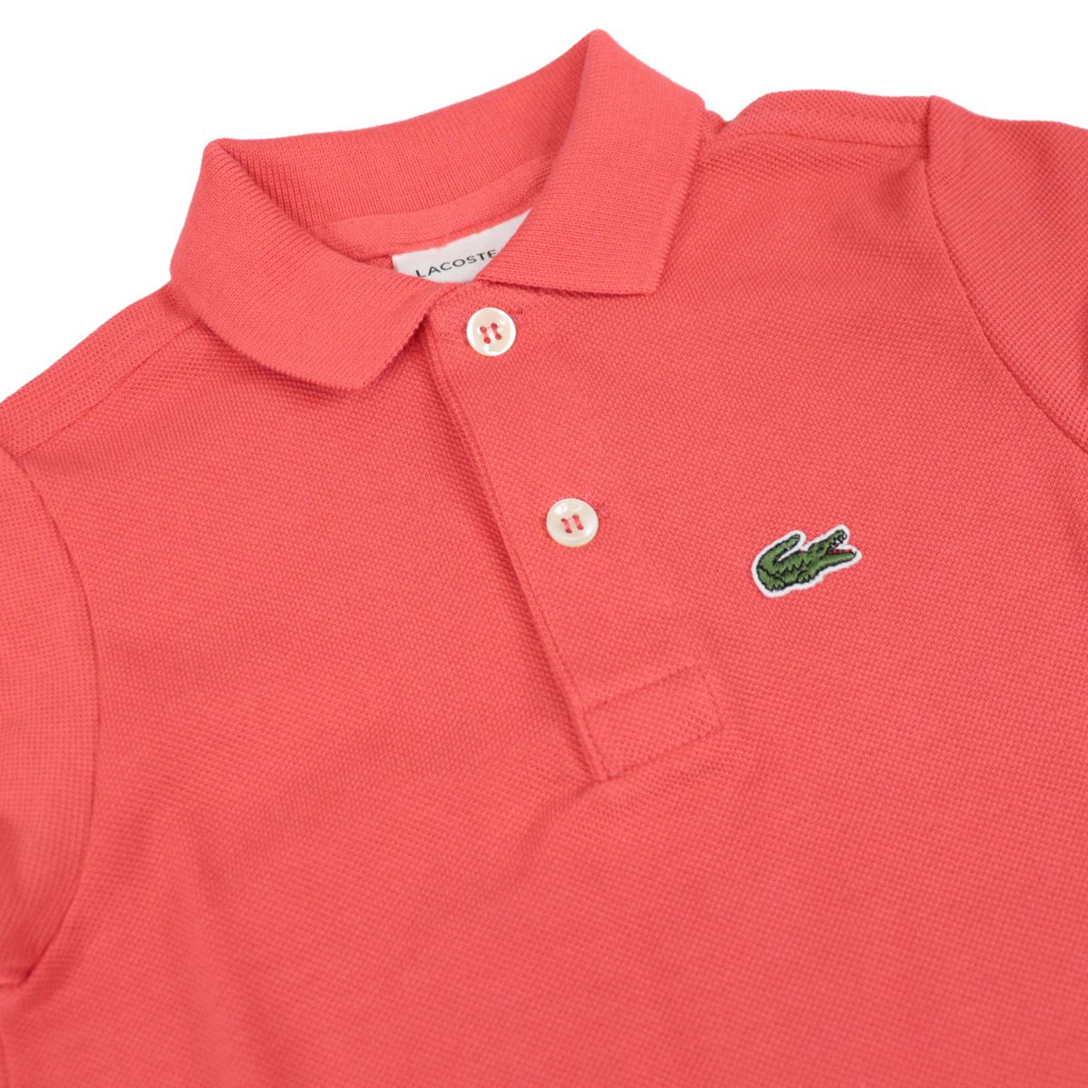 Cotton piqué polo shirt with 2 buttons with logo Orange Lacoste