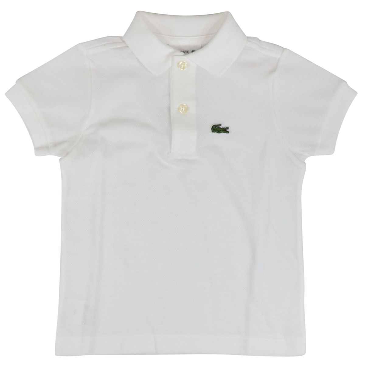 Cotton piqué polo shirt with 2 buttons with logo White Lacoste