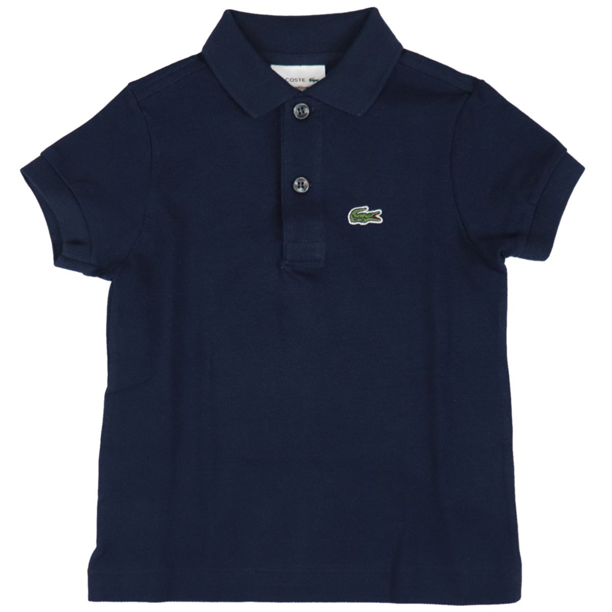 Cotton piqué polo shirt with 2 buttons with logo Blue Lacoste