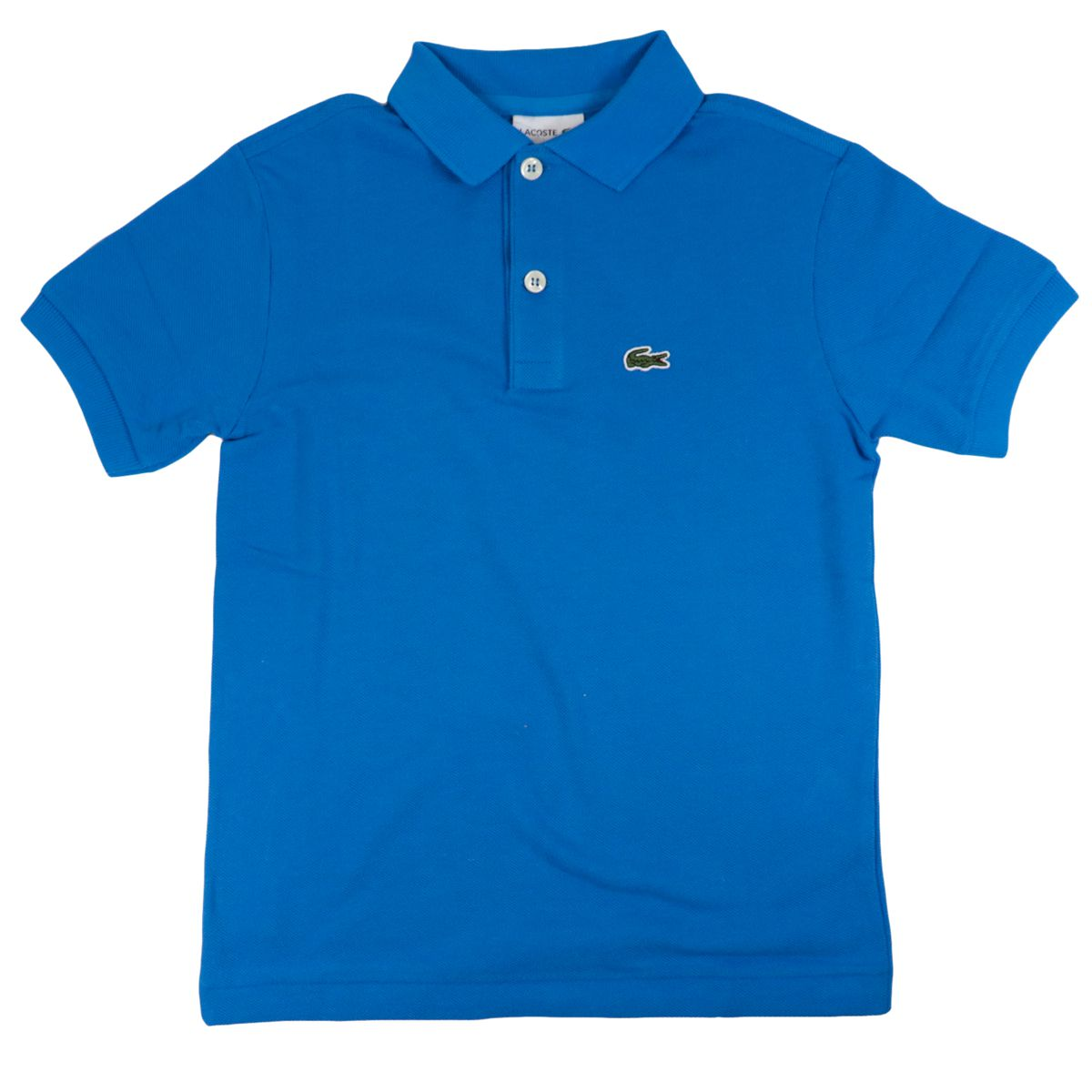 Cotton piqué polo shirt with 2 buttons with logo Bluette Lacoste