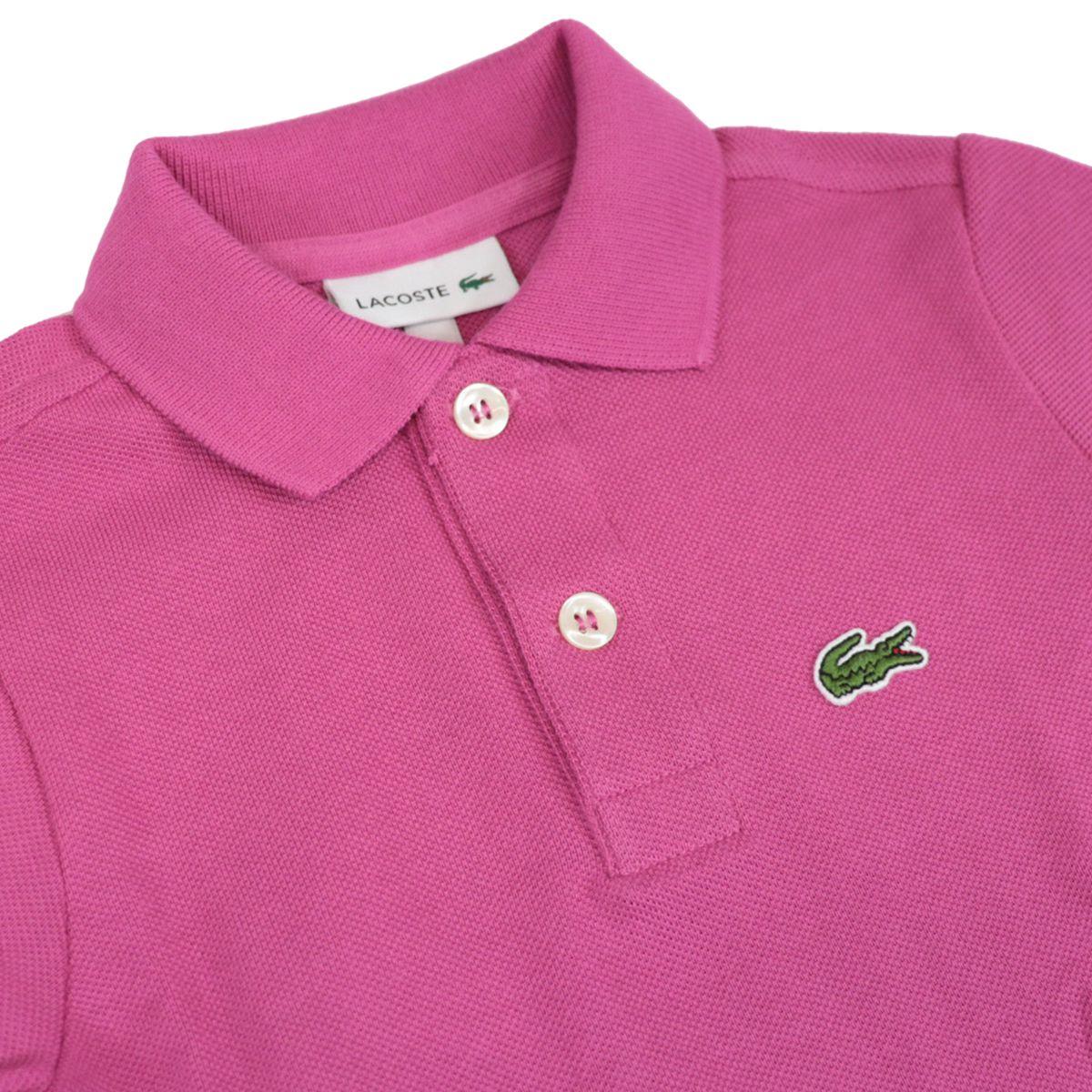 Cotton piqué polo shirt with 2 buttons with logo Fuchsia Lacoste