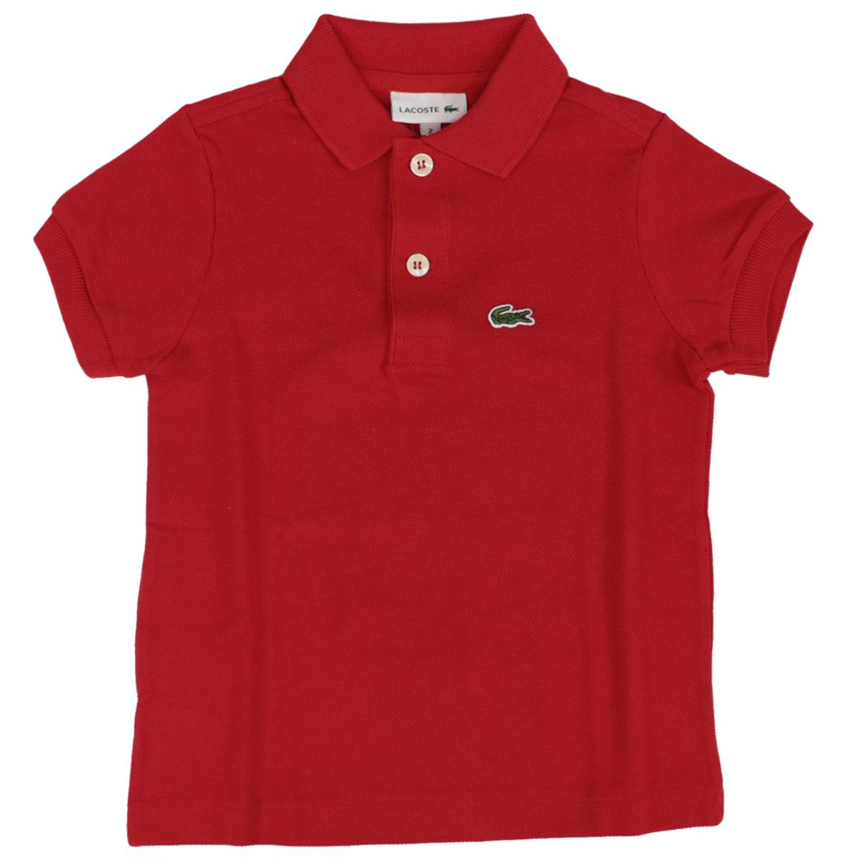 Cotton piqué polo shirt with 2 buttons with logo Red Lacoste