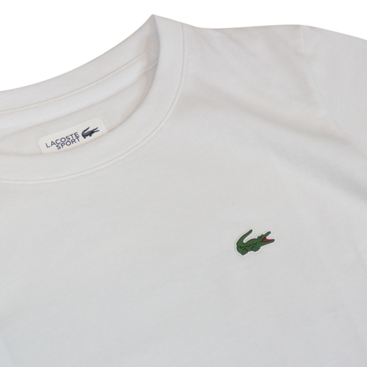 Ultra-Dry cotton blend T-shirt with small logo White Lacoste