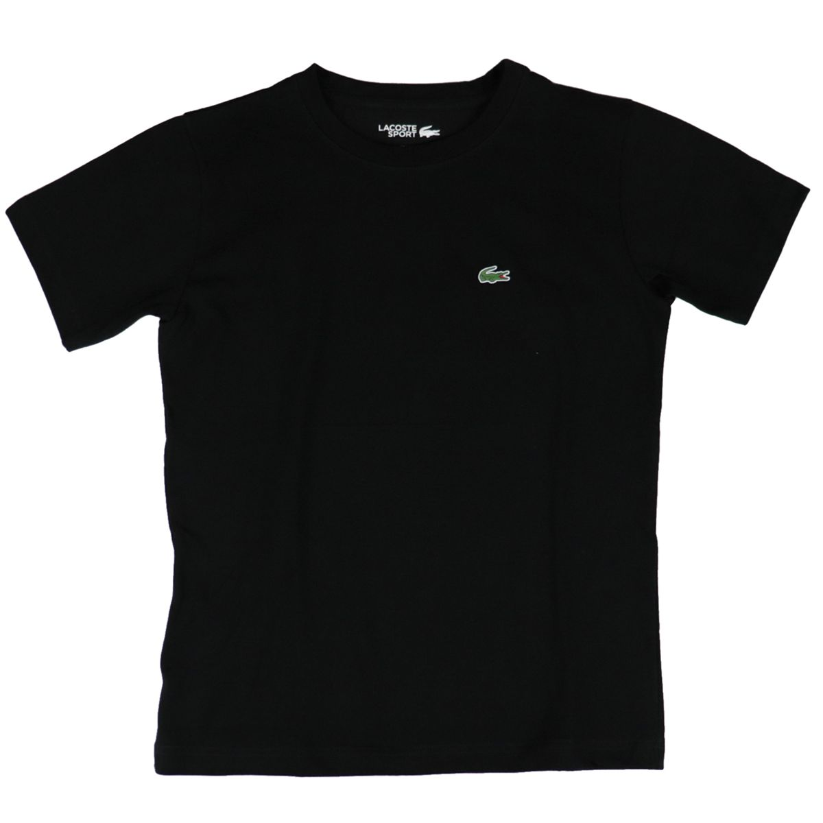 Ultra-Dry cotton blend T-shirt with small logo Black Lacoste