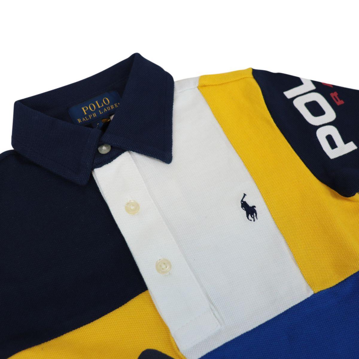 Three button cotton polo shirt with multicolor print White Polo Ralph Lauren