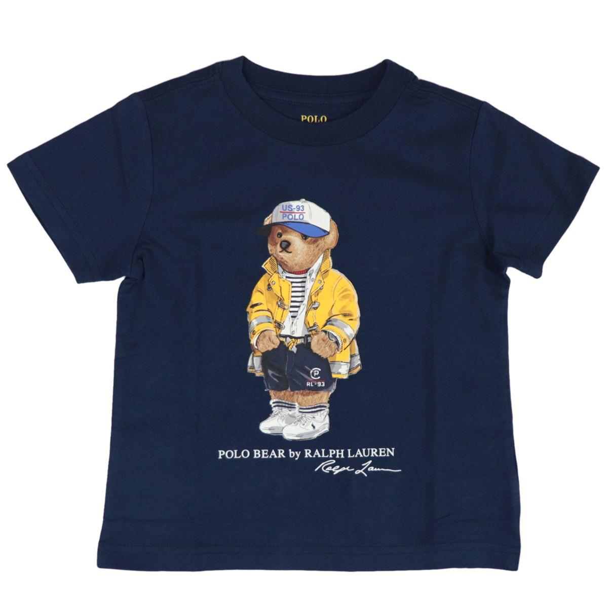 Short-sleeved cotton T-shirt with bear print Navy Polo Ralph Lauren