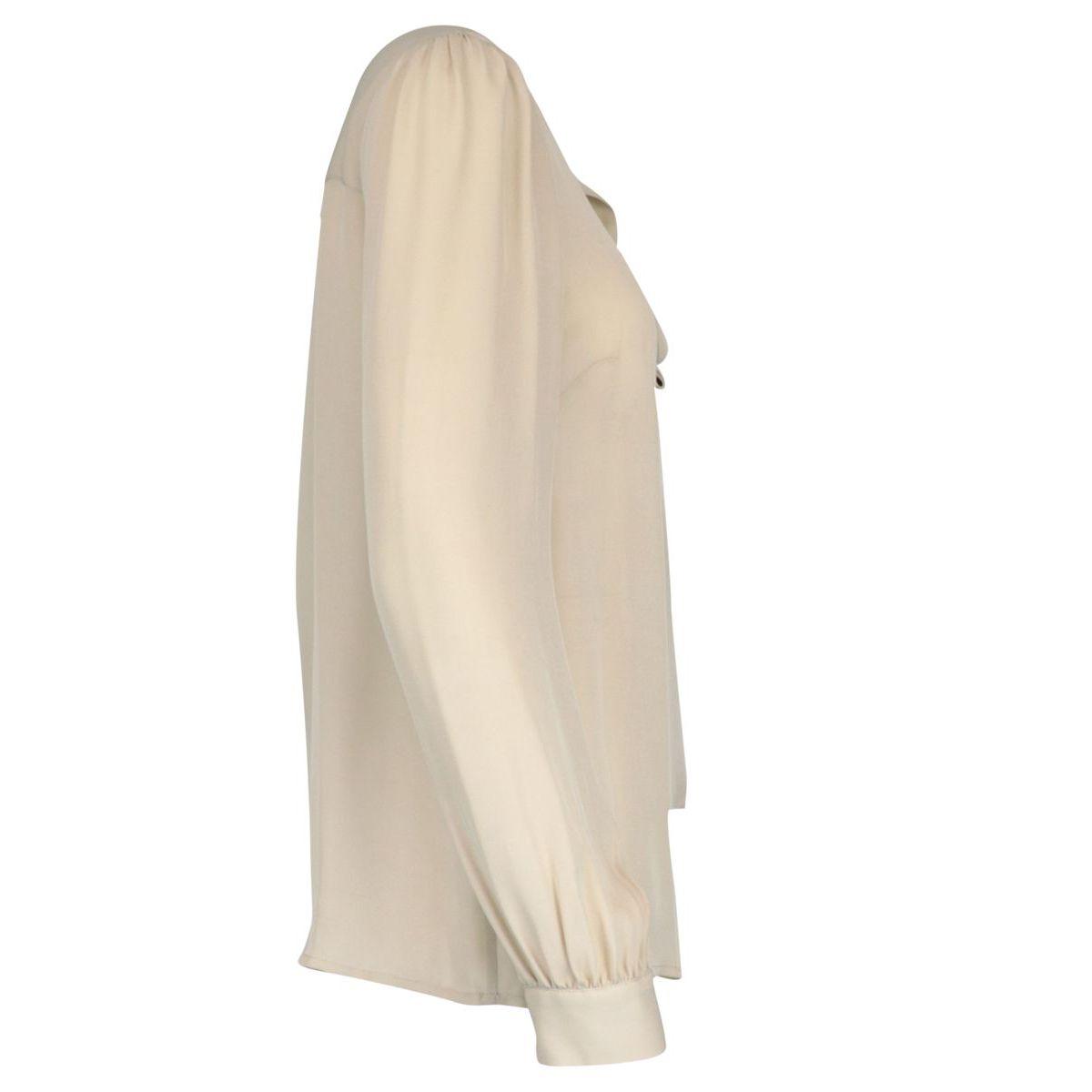 Silk shirt with bow on the neck Ecru Michael Kors
