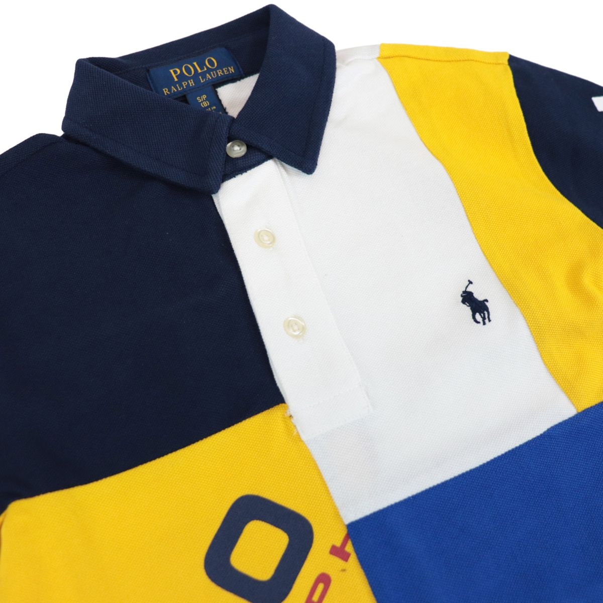 Multicolor cotton polo shirt with logo print White Polo Ralph Lauren
