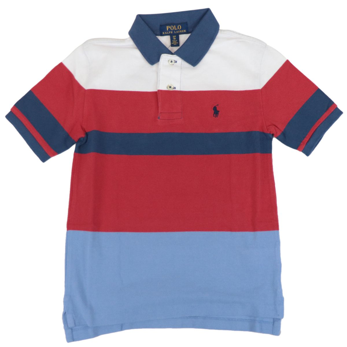 Multicolor striped cotton polo shirt with logo Red Polo Ralph Lauren