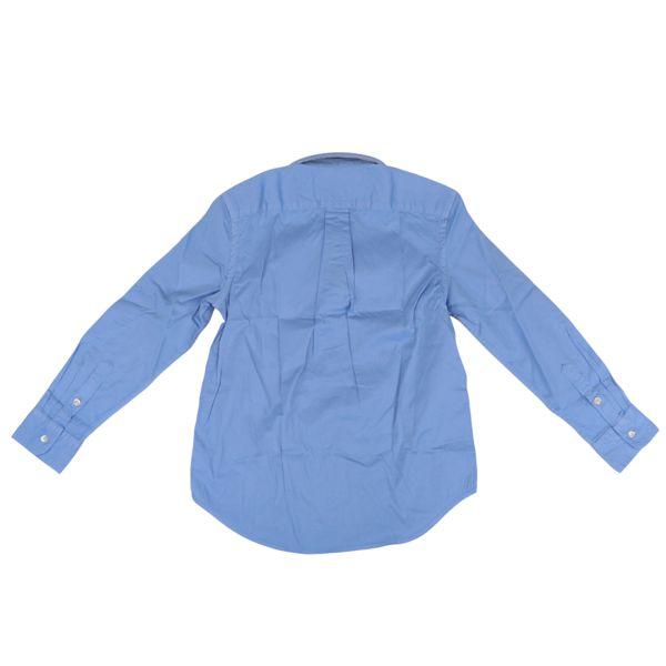 Long-sleeved cotton button-down shirt Fall blue Polo Ralph Lauren