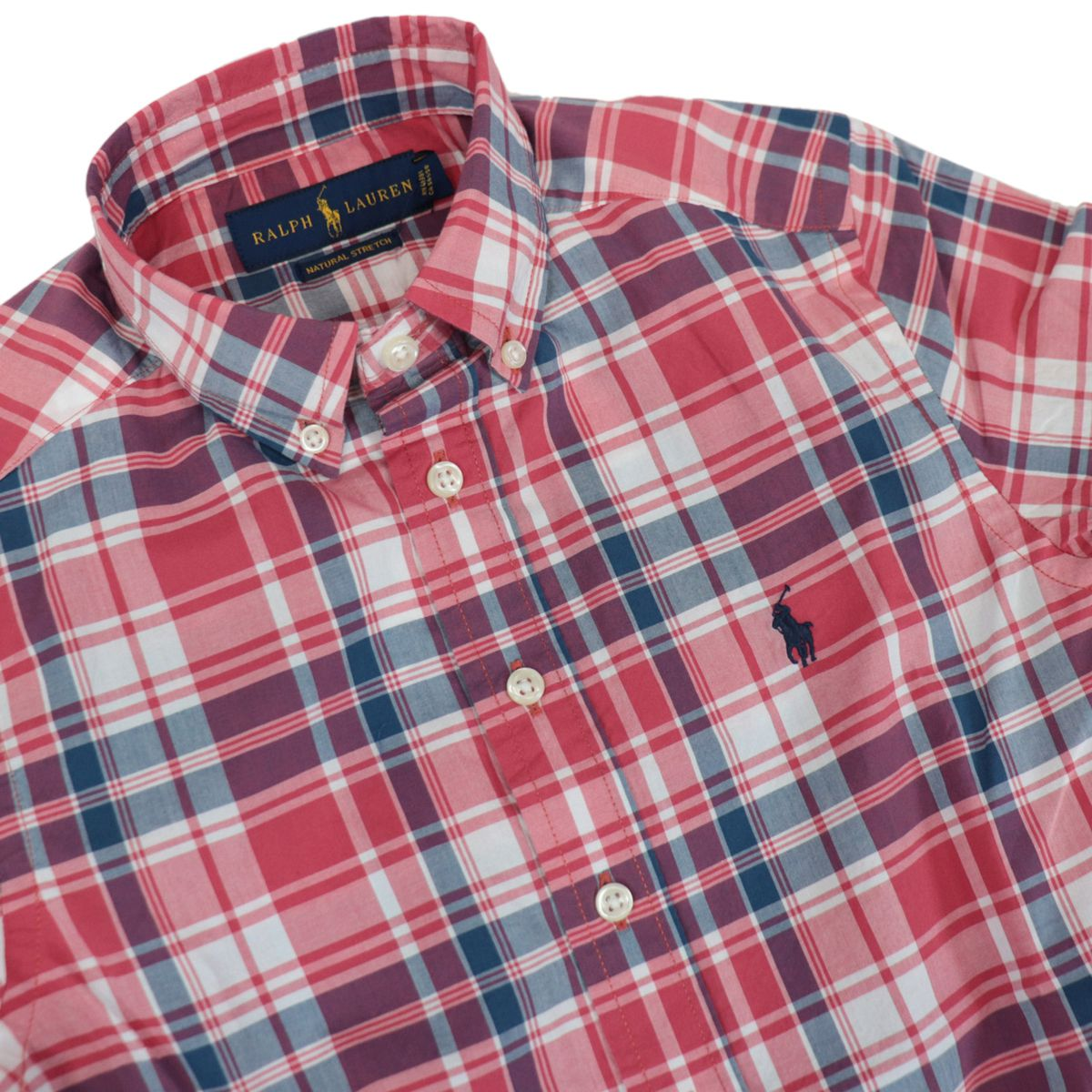 Botton down shirt in cotton with madras pattern White red Polo Ralph Lauren