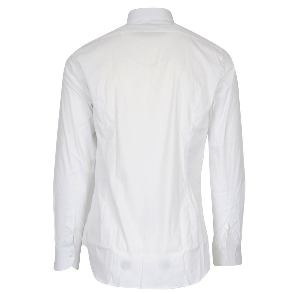 Regular-fit shirt in stretch cotton with French collar White Guglielminotti