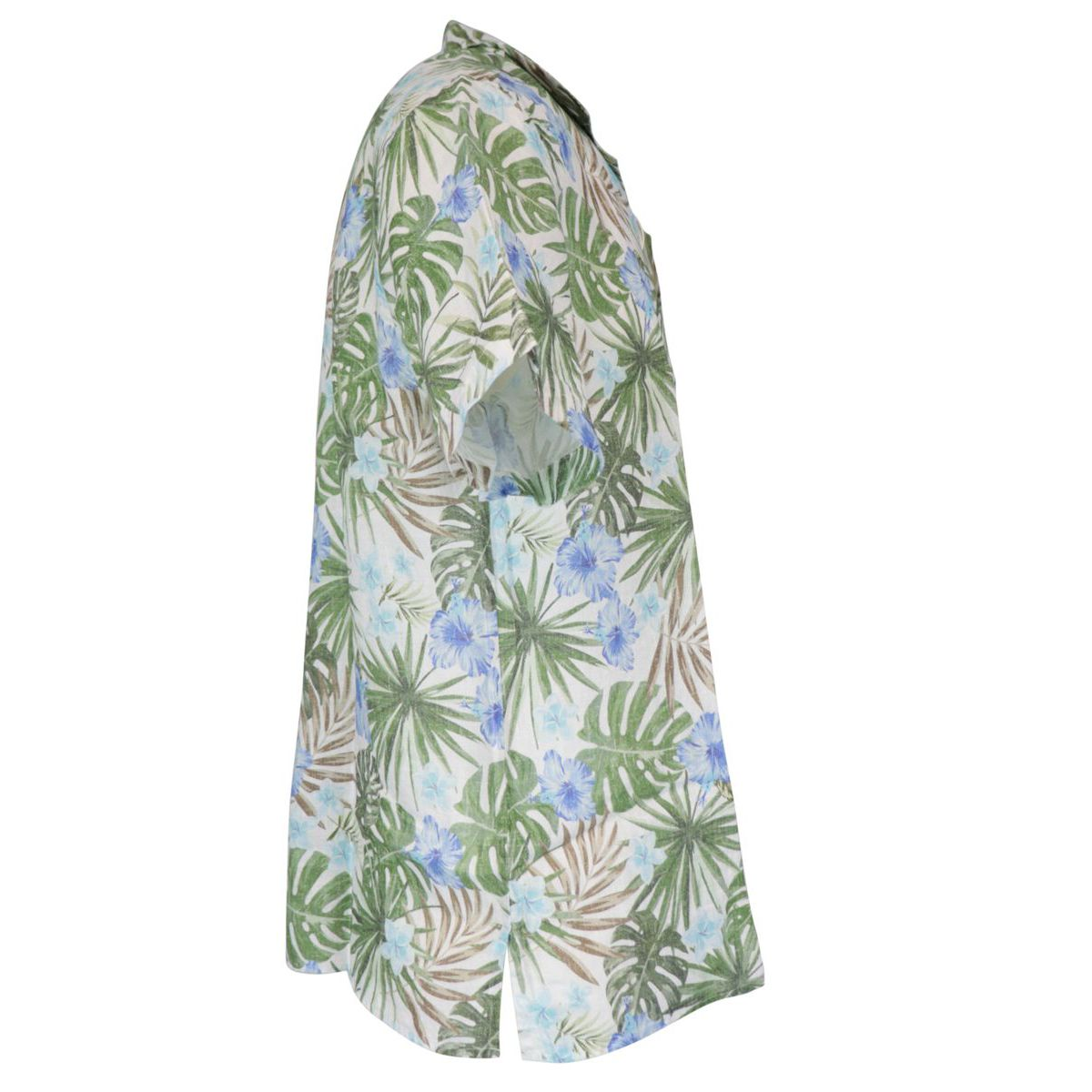 Linen shirt with tropical print Heavenly Altea