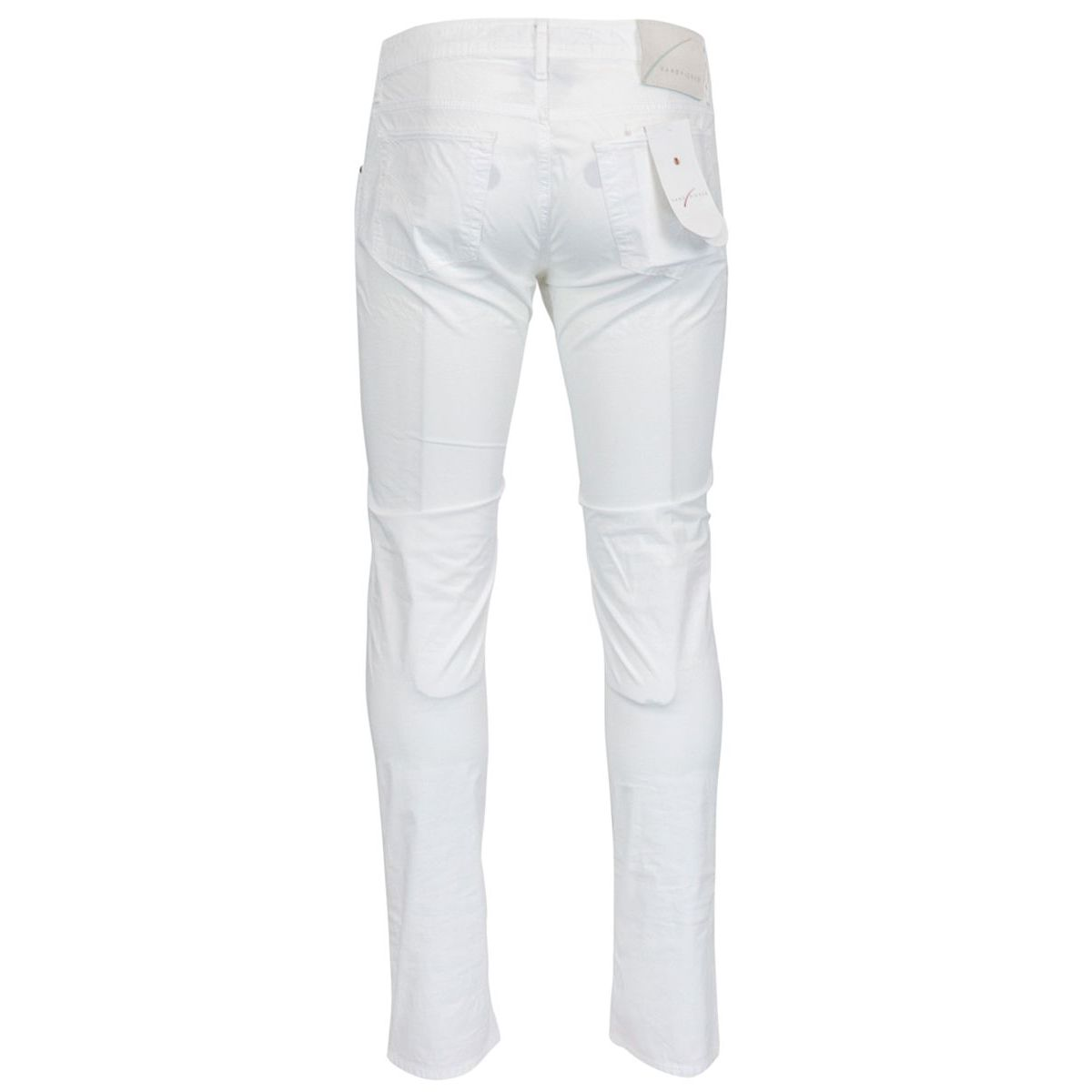 Slim trousers with 5 pockets in stretch cotton Optical white Hand Picked