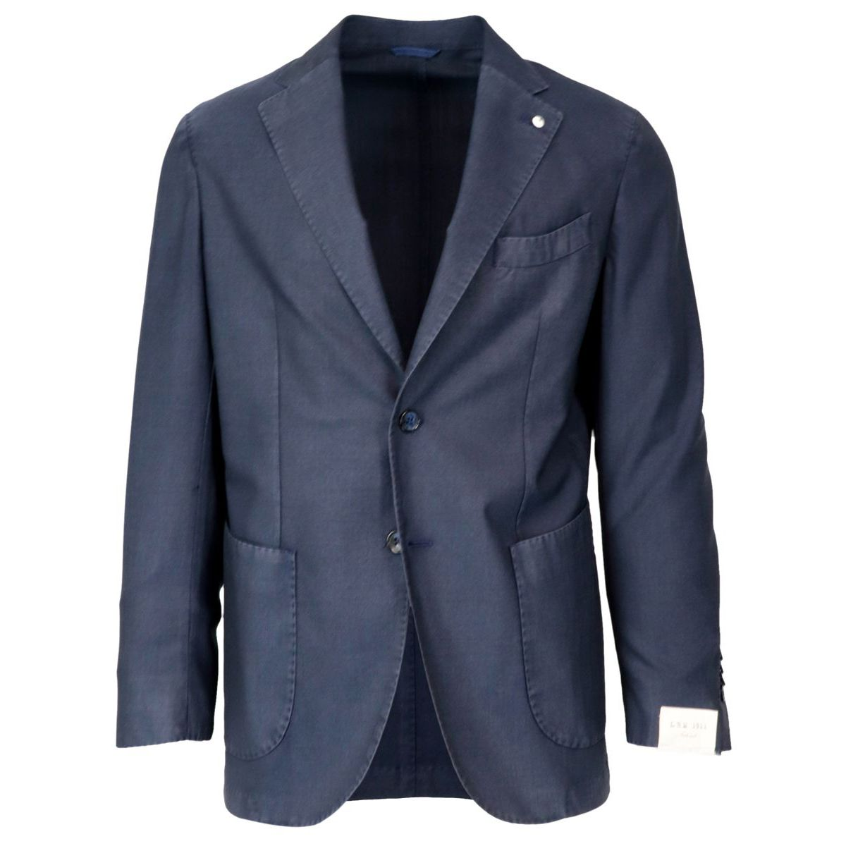 Two-button jacket in washed wool Blue L.B.M. 1911