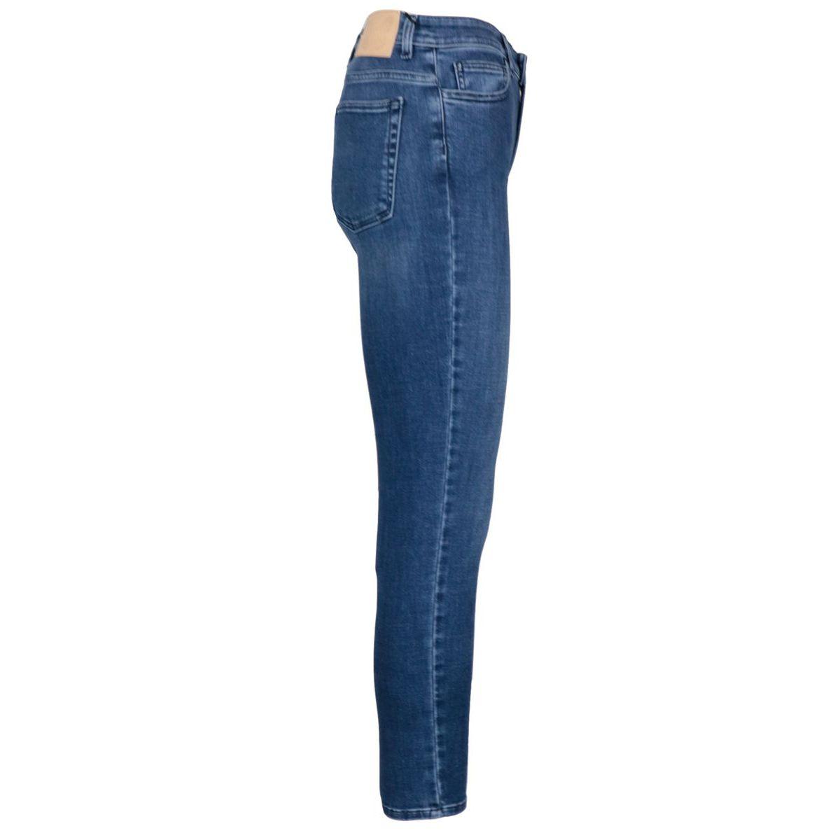 High-waisted slim-fit used-effect jeans Medium denim Twin-Set