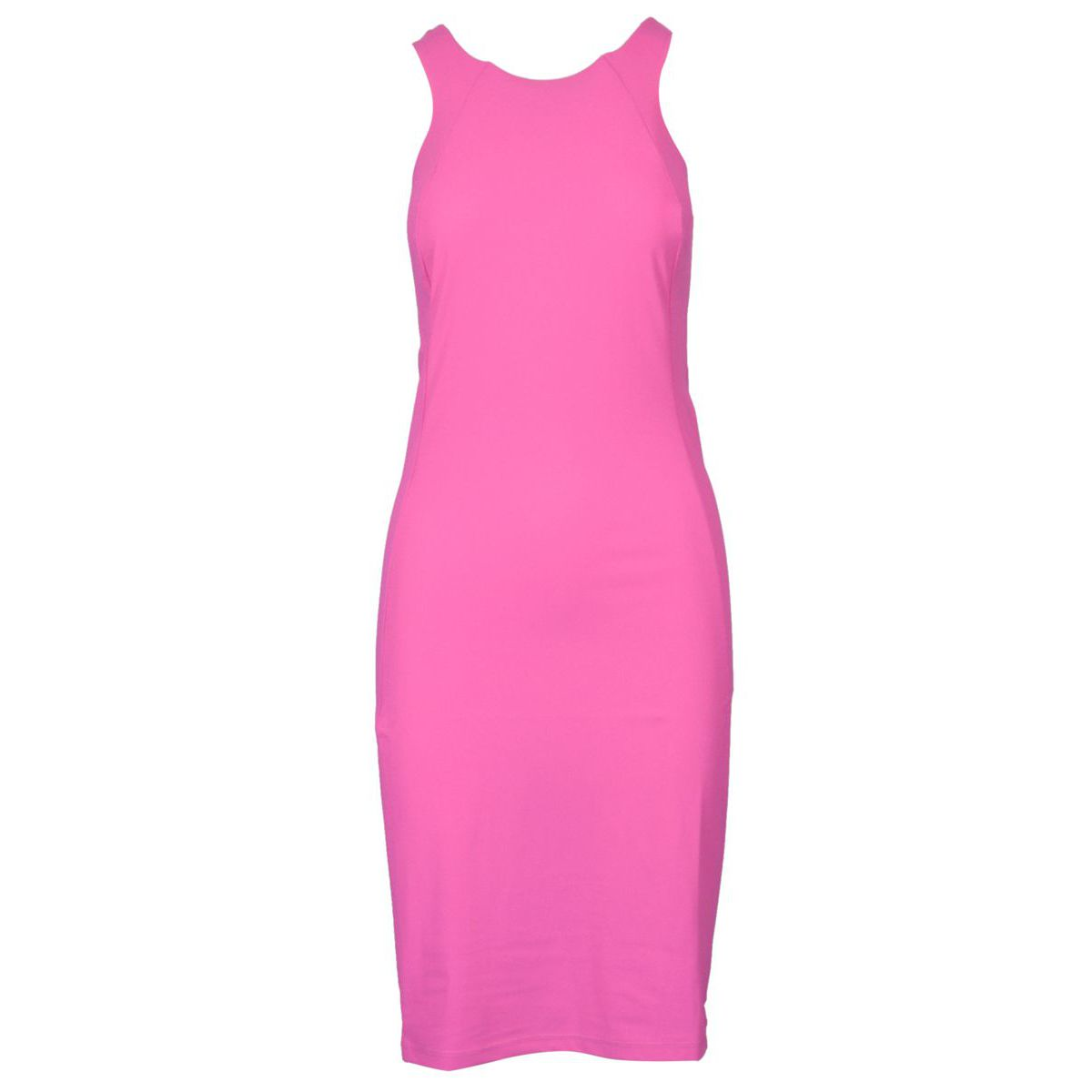 Sheath dress in technical fabric with round neckline Orchid Patrizia Pepe