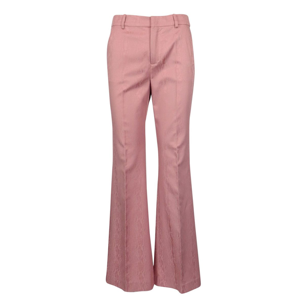 Moirè trousers with wide bottom in stretch cotton Antique pink Maliparmi