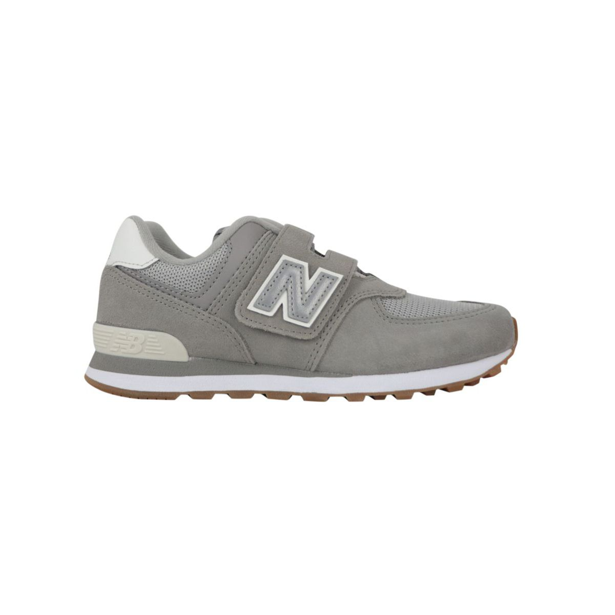 Gray bi-material sneakers with rips Gray New Balance