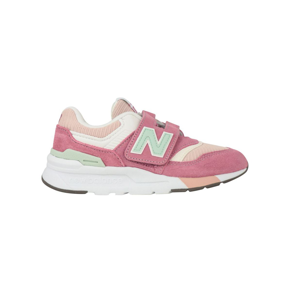 Suede and mesh sneakers Hook and Loop 997H Pink New Balance