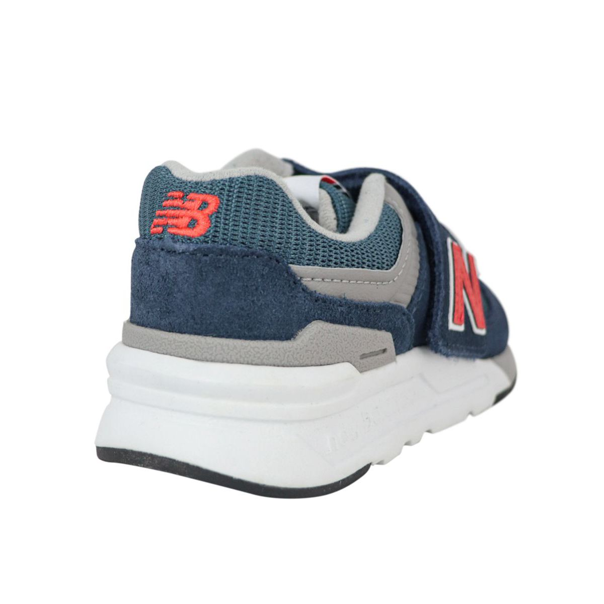 Bi-material sneakers with rips Navy New Balance