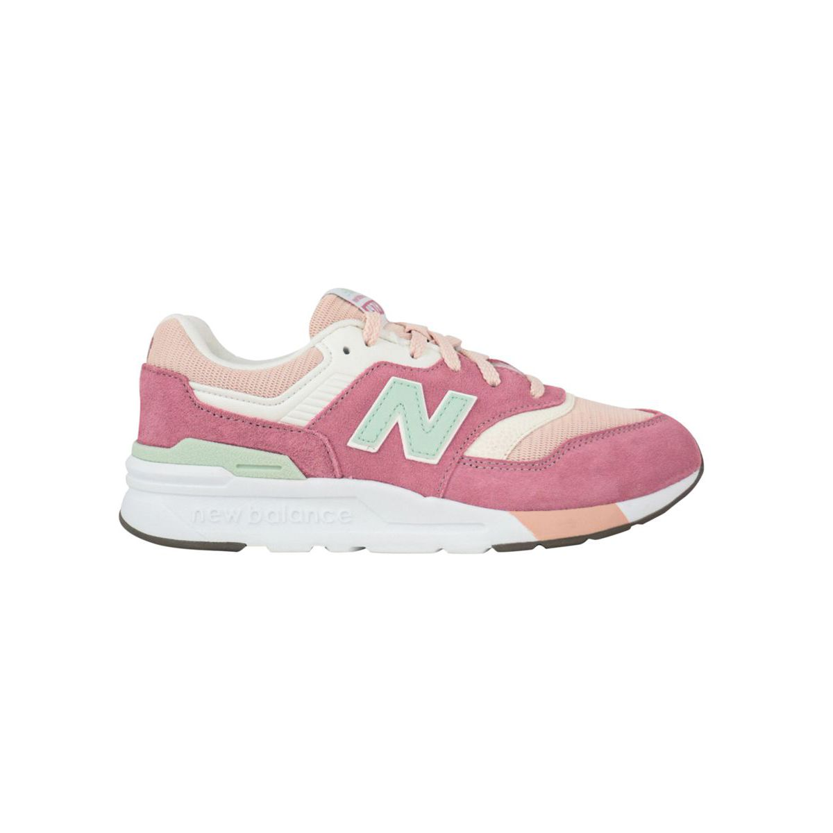Suede and mesh sneakers 997H Essentials Pink New Balance