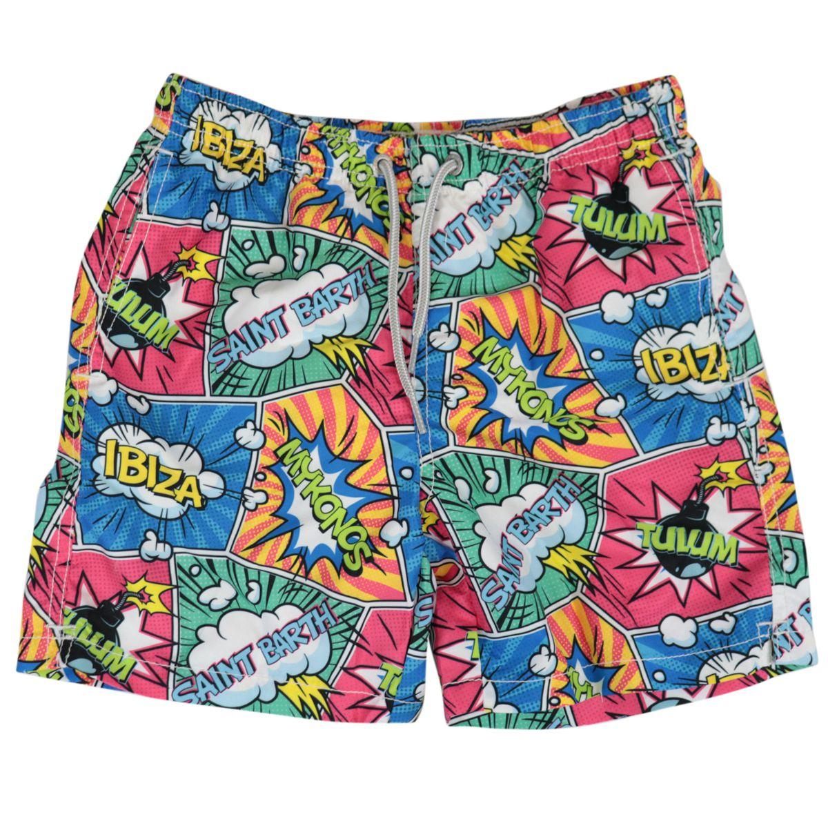 Jean seaside swimsuit with pop color print Multicolor MC2 Saint Barth