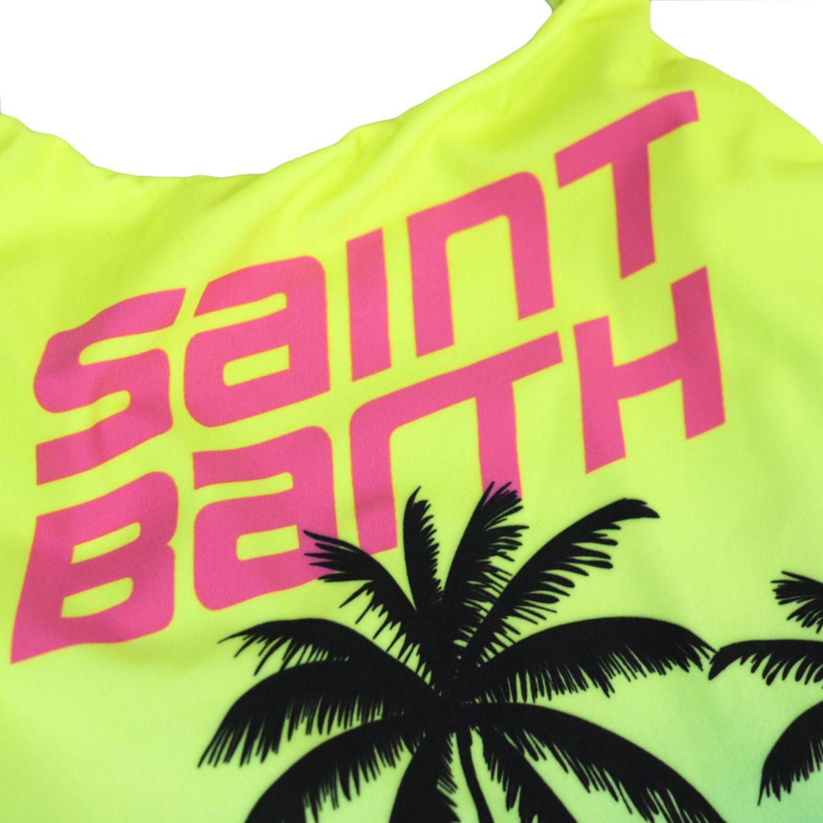 One piece swimsuit Shady SB colorful palmera Fluo yellow MC2 Saint Barth