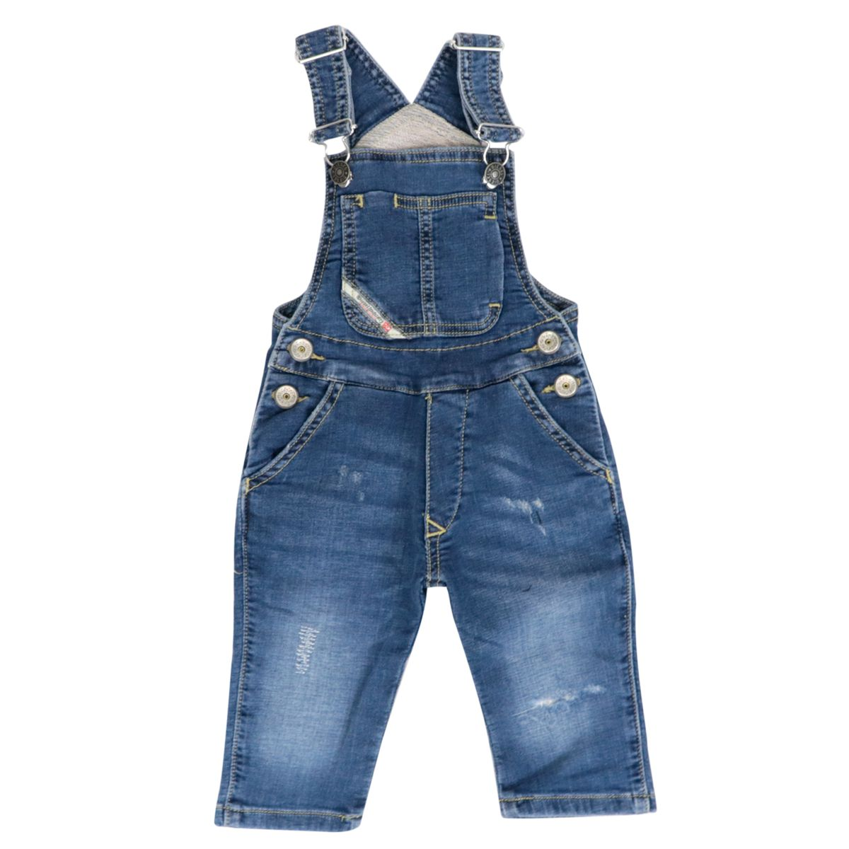 Denim dungarees with used details Light denim Diesel